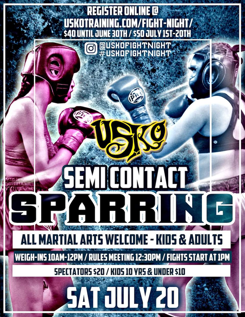 USKO Semi Contact Sparring 14 July 20, 2019