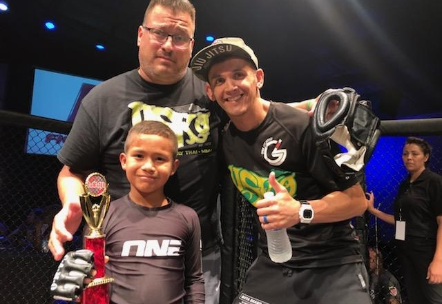 Luke Rivas wins Pankration Match